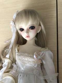 Bjd 3分 公主 白紗裙