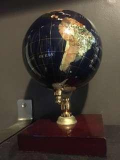 Globe handmade with precious stones