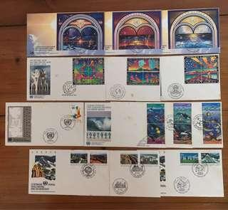 Whole Year of 1992 United Nations FDC's