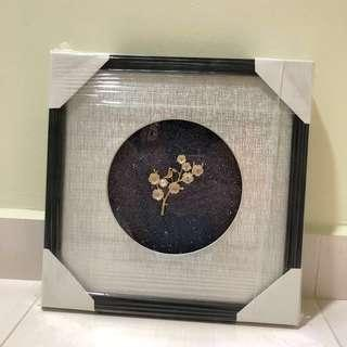 Handcrafted LED Blue Glitter Wall Decor Frame