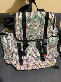 "Auth Sprayground Unisex ""Origami Money"" Recon Large Backpack"