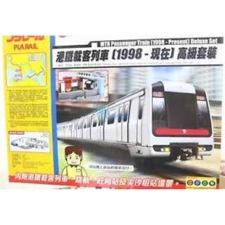 全新有透明包裝紙盒TomicaTomy Plarail Set Tomica and Plarail Town Set With Curved RailMTR Set-Tsuen Wan Line PassengerTrain Deluxe Set 地鐵荃灣線