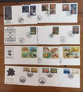 Whole Year of 1995 United Nations FDC's