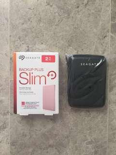 BNIB Seagate Backup Plus Slim 2TB w Free Case