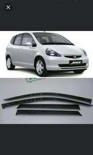 Honda Jazz/Fit GE6 2002-2008 carbon fiber Window Side Visors Sun Rain Guard Vent Deflectors