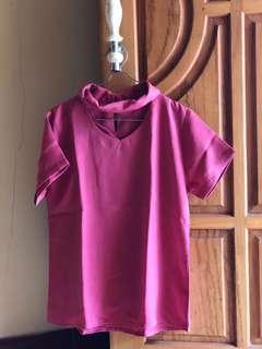 Pink top and necks kalung