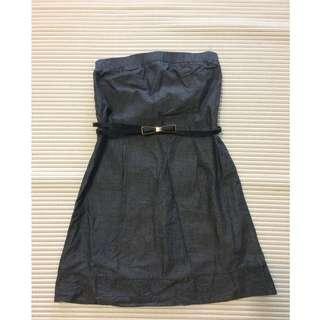 [BN] Dark grey tube dress