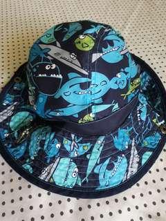 Baby Sun Bucket Hat Blue Sharks