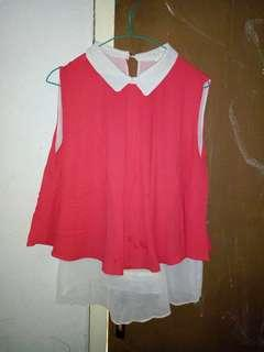 Take all pink tops & vest