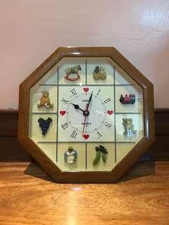 Tokina Authentic Vintage Children's Wall Clock from Korea