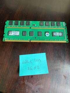 Kingston Desktop RAM DDR3 2Gx2