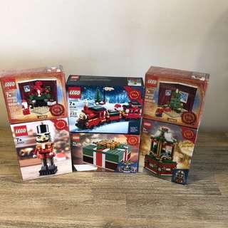 *6 sets* MISB Lego Seasonal Christmas Theme Bundle