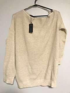 Dynamite off-the-shoulder sweater in cream