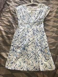 poem blue white dress