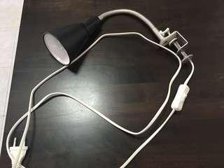 clamp spotlight, black