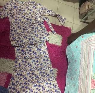 Baju kurung cotton wrap