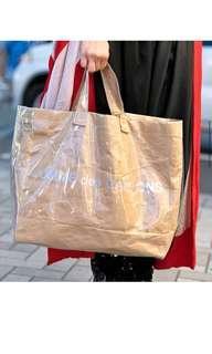 Comme des garcons pvc paperbag tote bag