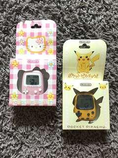 Nintendo Pocket Pikachu Pokemon / Hello Kitty