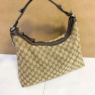de9f11da005 Gucci Monogram GG Large Tote Hand Bag