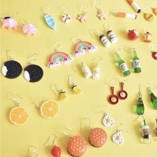Food soda bottles rainbow earrings ulzzang PO