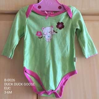 Duck Duck Goose Baby Girl Onesie 3-6M