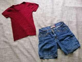 Maroon Knitted Blouse