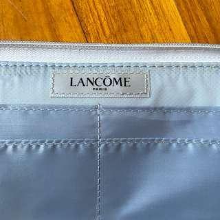Lancôme wallet pouch zippered passport holder in silver sparkly white