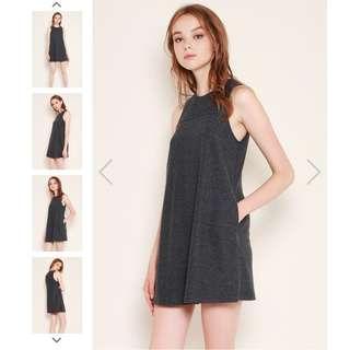 🚚 SSD Athena/Larah Dress in Black Tweed/Dark Grey (XS)