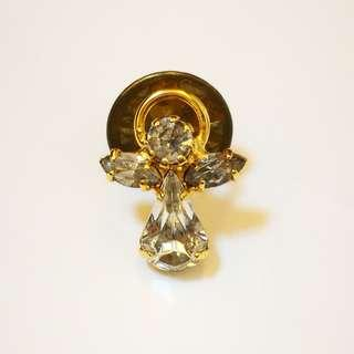 🆕 Genuine Austrian Crystal Guardian Angel - April Birth Stone