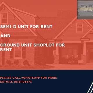 Semi-D House and Shoplot for RENT!!!