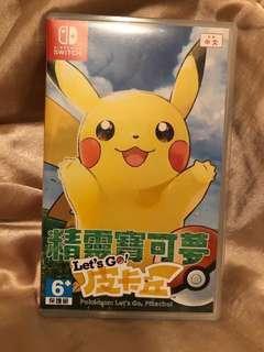 Switch game: Pokemon: Let's Go 比卡超