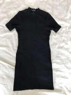 🚚 Cotton on black fitted dress