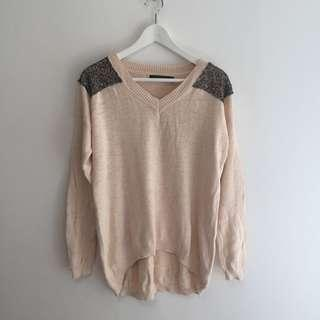 Glassons Sequin Patch Jumper