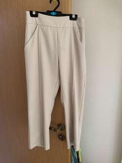 🚚 Cropped tailored trousers in cream