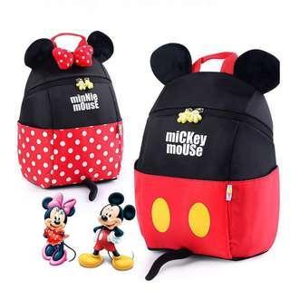 🚚 Premium Quality Kids Mickey Minnie Mouse Bagpack Bag