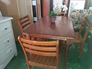 Dining set solid wood