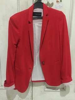 Red Blazer By Zara