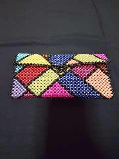 Beaded colorful wallet