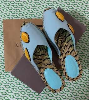 Charles and Keith Beaded Espadrille Sliders