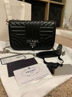 Prada diagramme nappa leather bag