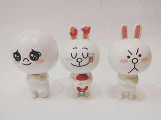 🚚 Line 公仔筆饅頭人、兔兔(全家便利商店 )3只一起售