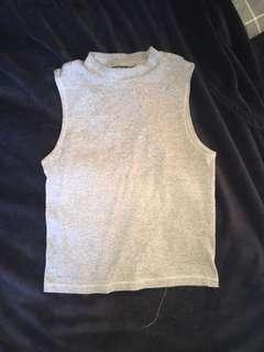 Grey Cotton On Sleeveless Highneck Sz S