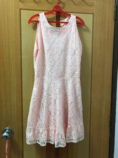 🚚 Light pink orangy lace dress