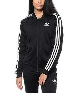 Adidas Supergirl Black Jacket Sz 8
