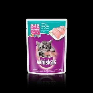🚚 WTS: Whiska Junior Tuna Flavor ($0.60/pkt)