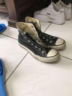 🚚 Converse 基本款 黑色高筒帆布鞋