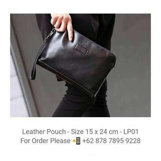 Leather Pouch - Clutch - LP01