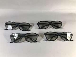 Kacamata 3D LG black (4pcs)