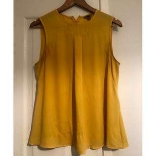 Cue Shell Top - Yellow - Size 10