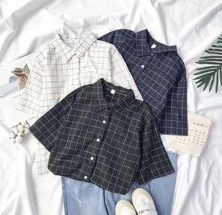 grid shirt outerwear blouse